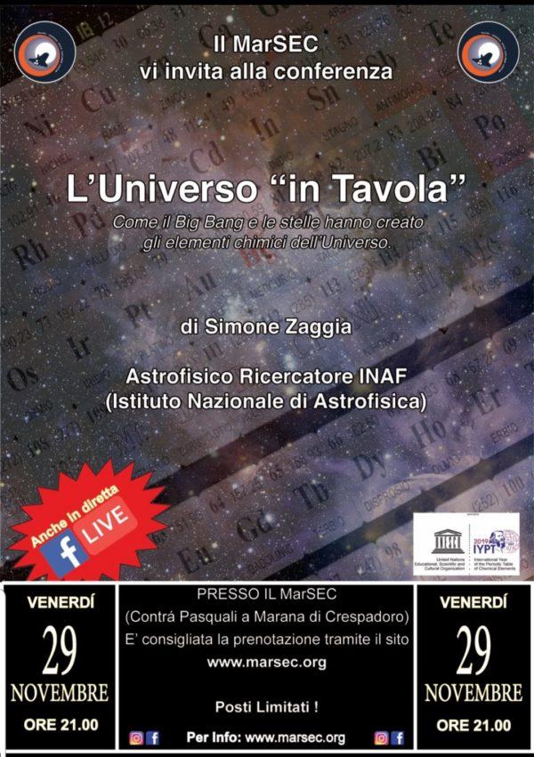 L'Universo in Tavola - Simone Zaggia