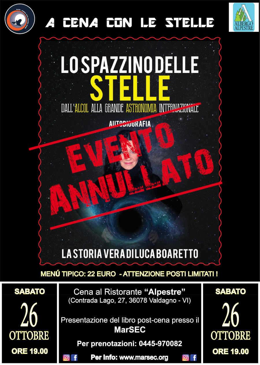 Lo spazzino delle stelle - Luca Boaretto - Evento Annullato